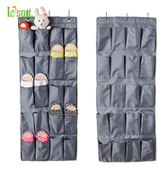 Over the Door hanging storage bag shoe organizer with 20 compartments, Grey Series Door/Wall Storage Solution