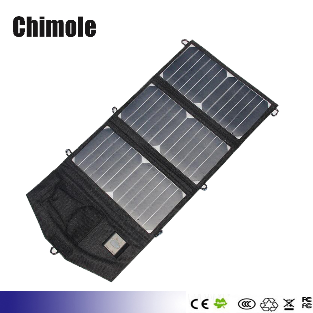 ФОТО 5pcs 5V 19.5W portable folding solar panel charger mobile phone charging treasure Universal outdoor mobile power solar charger