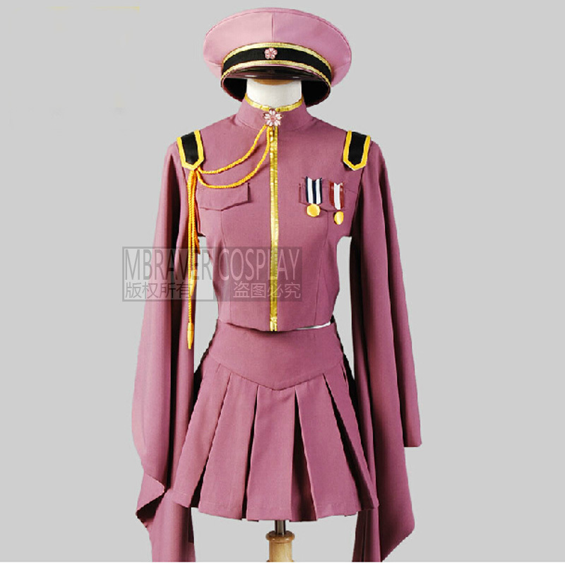 Free shipping Vocaloid MIKU Senbon Zakura Cosplay Costume Vocaloid Uniform Custom-made