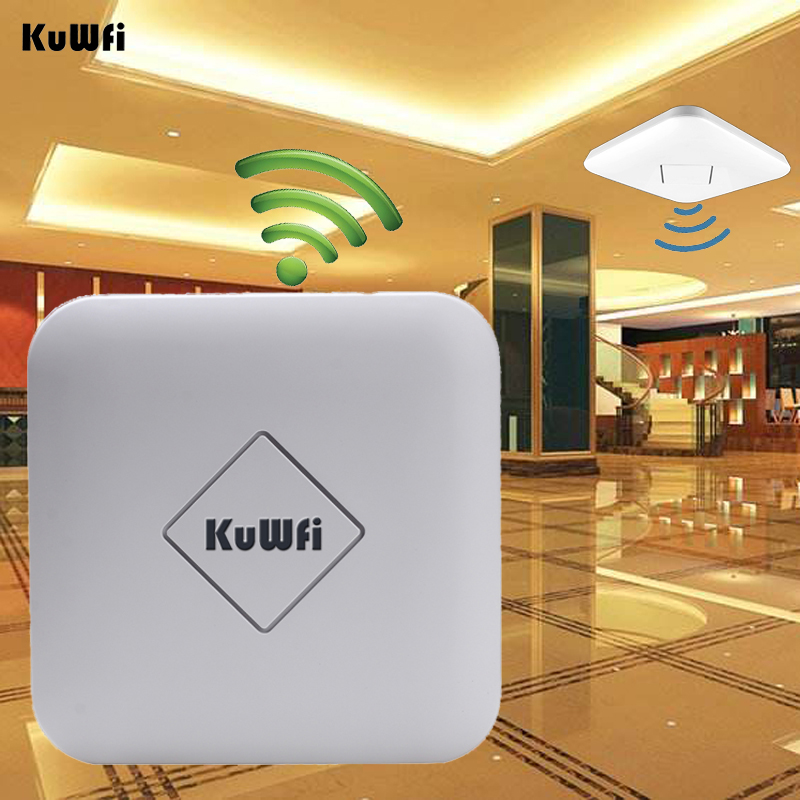 Kuwfi 802.11AC 1200Mbps High Power Ceiling Wireless AP 128M 2.4G/5G Dual Band Wireless Router Gateway Wifi Repeater AC control roteador repetidor wifi mi router hd version wifi repeater 2533mbps 2 4g 5ghz dual band app control wireless metal body mu mimo
