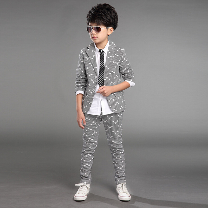 b813e9a386 Boy kid formal suits boy blazer suit set children boy blazer jacket   pants  classic suit for boy suit clothing set-in Clothing Sets from Mother   Kids  on ...