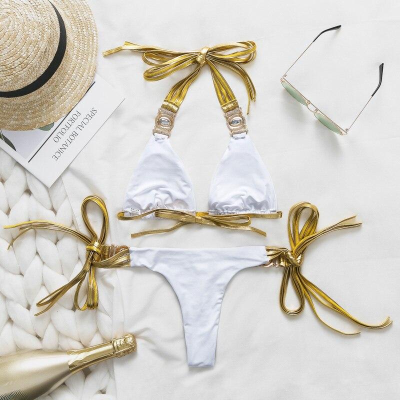 HTB1XM1ce8Cw3KVjSZFuq6AAOpXaq Bikinx Snake print bikinis 2019 mujer bathing suit Triangle sexy female swimsuit Push up swimwear women bathers Micro bikini new