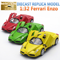 15CM Length Farari Enzo 1:32 Scale Models, Diecast Car Toys With Openable Door/pPull Back Function/Music For Kids/Boy As Gift