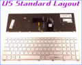 New US Layout Keyboard for Dell Inspiron 17 7000 7737 17-7737 P24E Laptop/Notebook with Backlit Frame Silver