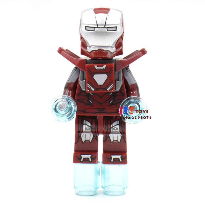 Single Sale superhero Decool Mark33 Iron Man building blocks model bricks toys for children brinquedos menino [bainily]511pcs superheroes space station iron man base attack on avengers tower model diy building blocks bricks toys