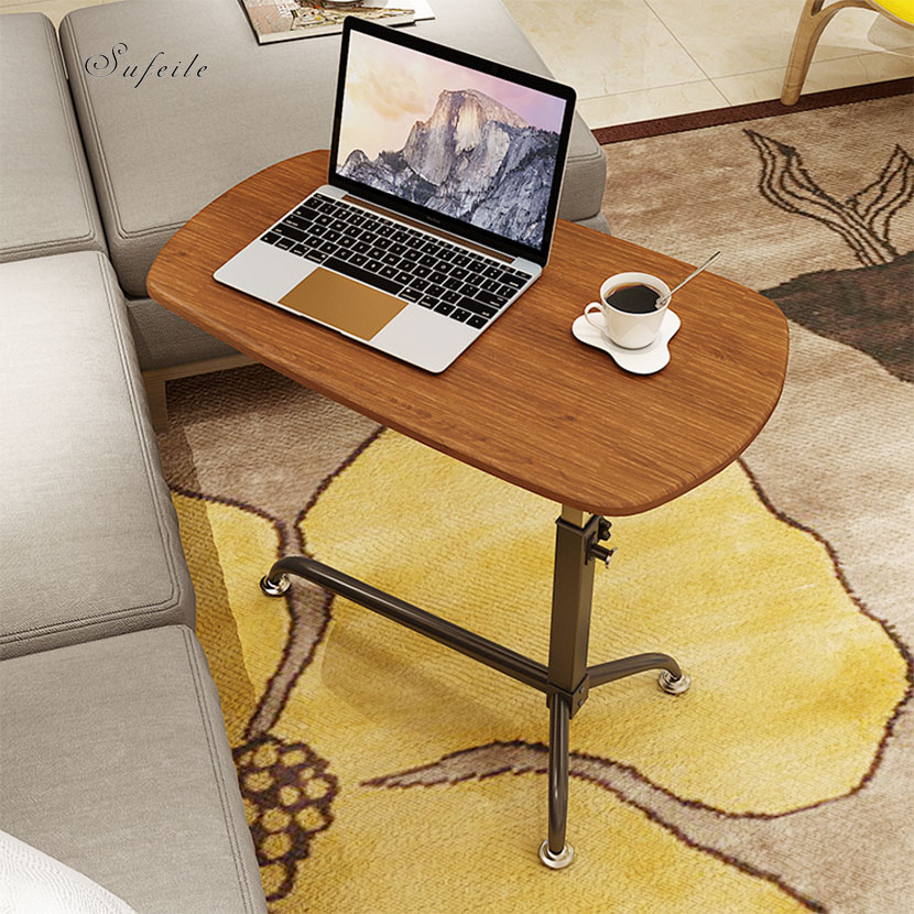SUFEILE Laptop Desk Multifunctional Outdoor Table Can Adjust Computer Desk Lift Metal office Laptop Desk Leisure table D50 selling bamboo flower wood simple desk computer desk small tea table outdoor leisure corner table furniture office table