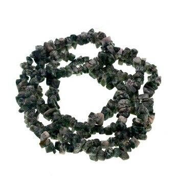 Cuentas de piedra Natural holesale 4-8mm forma libre Punto Verde jaspers Chip cuentas para joyería hacer collar de pulsera DIY