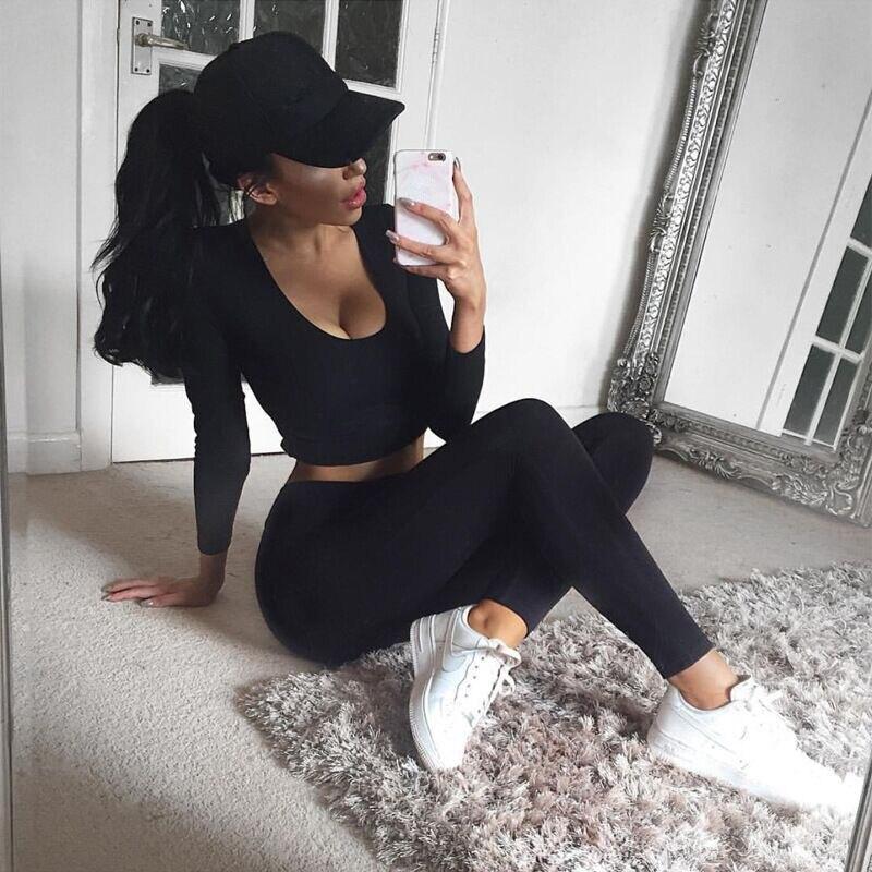 High quality Running Sports Suit Fitness Gym Tracksuit Women Yoga Set Padded Leggings Sportswear 7