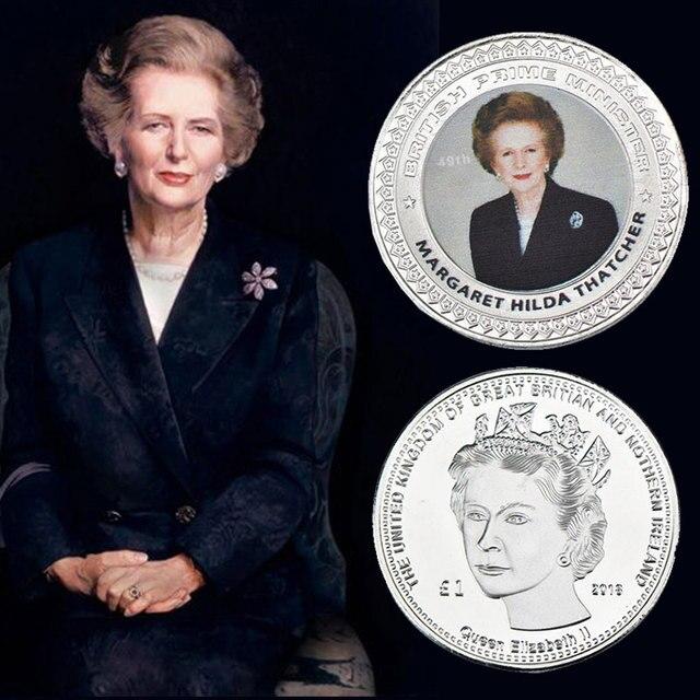 Moneda chapada en plata Original WR monedas europeas 54th Primer Ministro británico Theresa puede buena decoración del hogar regalo de negocios para Navidad