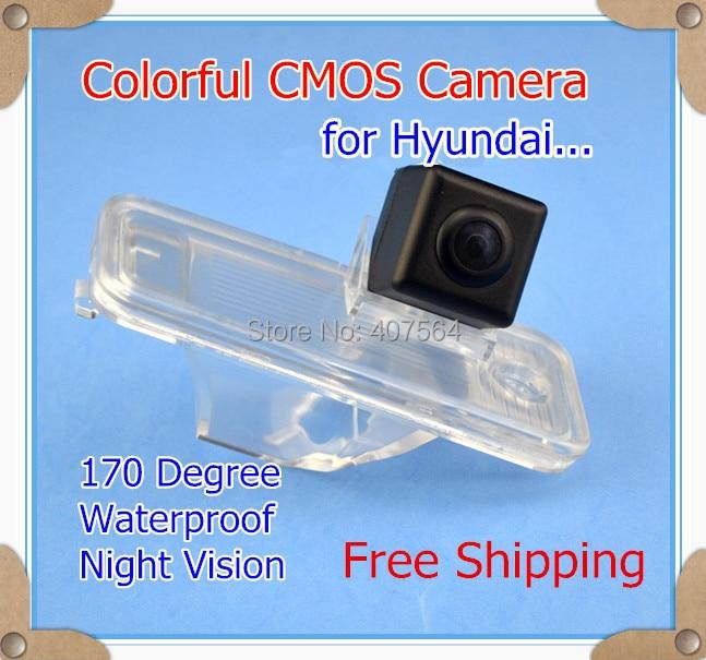 Factory selling, Color CMOS Car parking reverse rear view camera for 2013 Hyundai New Santa fe IX45 170 Degree night vision