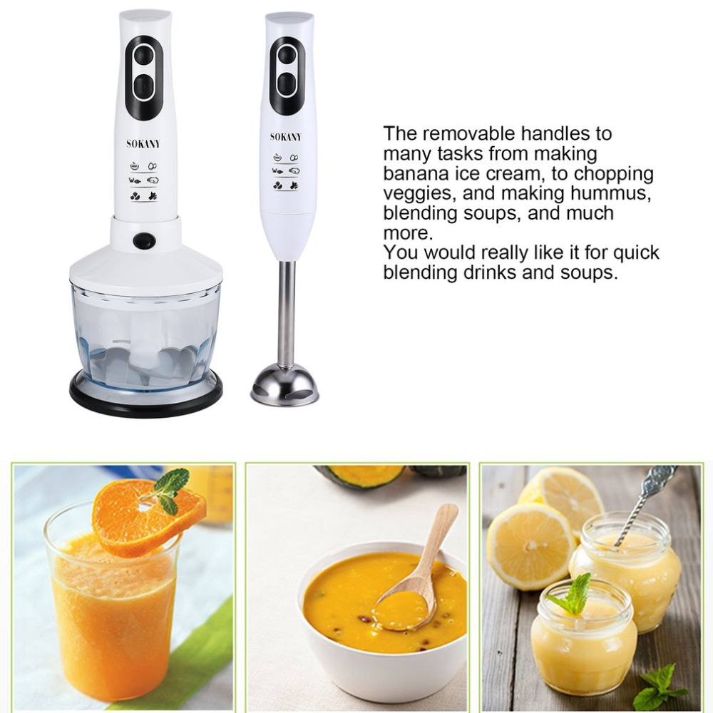 SOKANY Household Agitator Electric Stick Blender Hand Blender Egg Whisk Meat Grinder Food Processor With Mixing Bowl EU Plug