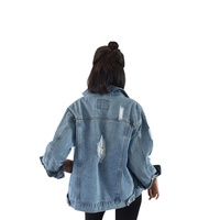Women Long Sleeve Basic Coats Denim Jacket Vintage 2017 Autumn Winter Women Loose Jeans Coat Casual