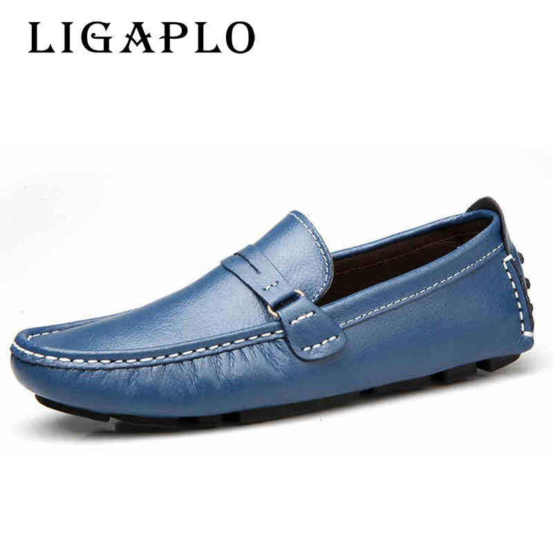 High quality leather Handmade Men Loafers Shoes Casual Men's Flats Design Man Driving Shoes Soft Bottom Leather Shoes Size 46 47 dxkzmcm genuine leather men loafers comfortable men casual shoes high quality handmade fashion men shoes