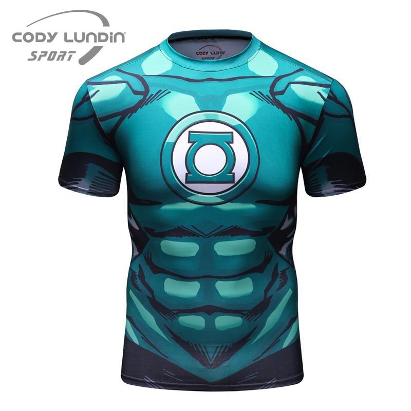 2017 Marvel Cosplay Lanterna Verde Super-heróis Ironman 3D Impressão Camisa  De Compressão Tops T-Shirt Dos Homens de Manga Curta 6fe04ce7a5f6a