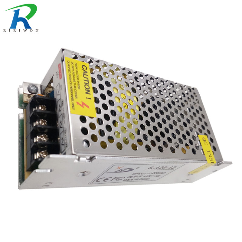 RiRi won 120W for Led Strip LED Power Supply Charger DC 12V 10A LED Lighting Transformer Power Adapter Metal driver