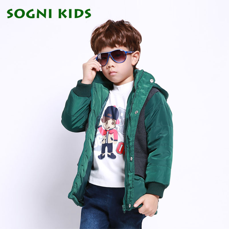 1-5 Years Baby Boys Winter Down Jacket Coat Long Thick Warm Cotton-padded jacket Kids Hooded Outerwear Parkas Children Clothing