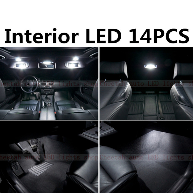 Tcart 14pcs X free shipping Error Free LED Interior Light Kit Package for BMW E90 accessories 2005-2012 tcart 7pcs free shipping error free auto
