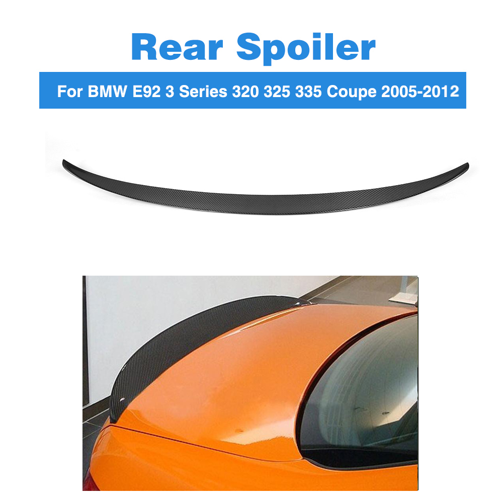 Rear Spoiler Trunk Boot Tuning Wing for BMW 3 Series E92 325i 328i 335i E92 M3 Coupe 2005-2012 Carbon Fiber Spoiler P StyleRear Spoiler Trunk Boot Tuning Wing for BMW 3 Series E92 325i 328i 335i E92 M3 Coupe 2005-2012 Carbon Fiber Spoiler P Style