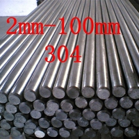 2 100mm 304 Stainless Steel Round Bar Customized Stainless Steel Rod