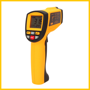 Image 2 - GM1150 Non Contact 12:1 LCD display IR Infrared Digital Temperature Gun Thermometer  30~1150C ( 58~2102F) 0.1~1.00 adjustable