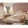 0308FDL806 Luxurious Queen Size & King Size leather soft bedrest European French style bedroom furniture comfortable bed frame