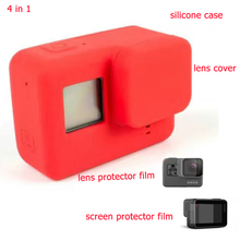 Gopro Hero 5 Accessories Protective Silicone Case with Lens Protector Film for Gopro Hero 5 Black Gopro 5 Accessoreis