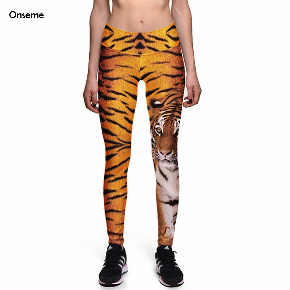 Onseme Fitness Leggings Forest King Tiger High Waist Leggings font b Women s b font Worker
