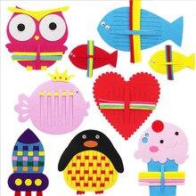 Руководство для детского сада Diy плетение ткани Развивающие Игрушки для раннего обучения Монтессори учебные материалы Математические Игрушки