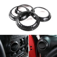 BBQ@FUKA For Jeep Wrangler Carbon Fiber Color Dashboard Air Vent Outlet Cover Car Styling Decoration Trim Ring