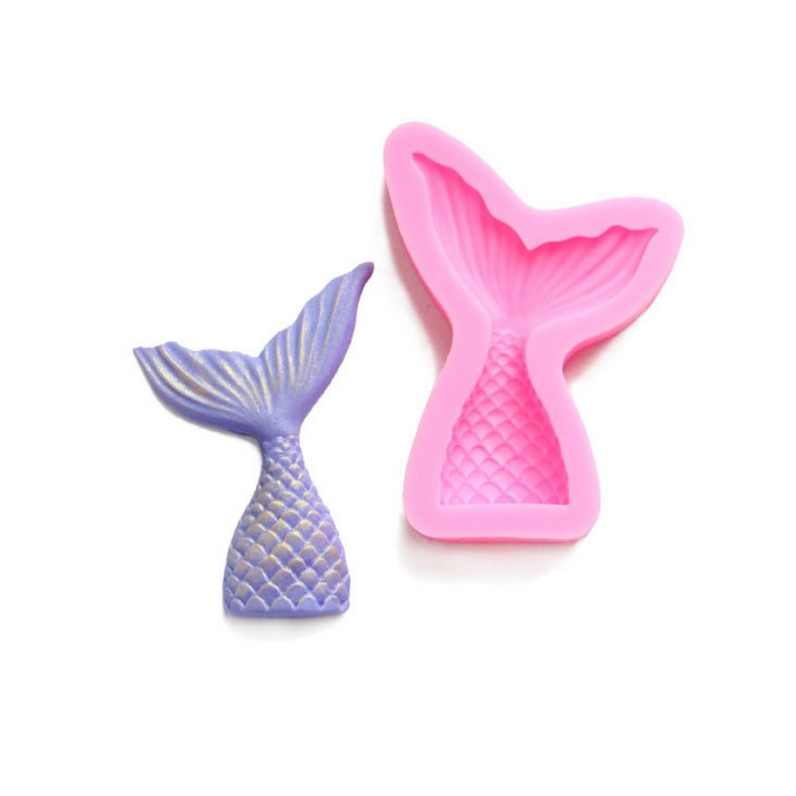 Mermaid Tail silicone fandont mold Silica gel moulds Mermaid Tail Chocolate molds tails candy mould tails silicone molds