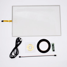 цена на 19inch 4 Wire Resistive Touch Screen Panel USB Kit For 19