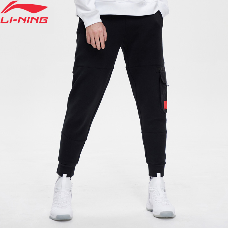 Li-Ning Men BAD FIVE Basketball Sweat Pants Regular Fit 66% Cotton 34% Polyester Li Ning LiNing Sports Pants AKLP005 MKY450