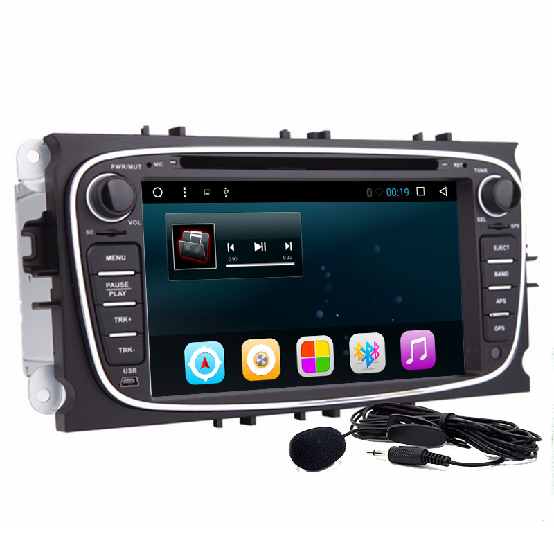 2 din 7 inch Android 6.0 Quad Core Car DVD GPS Player Navi for Ford Focus Mondeo Galaxy with Audio Radio Stereo Head Unit
