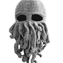 Wholesale Funny Tentacle Octopus Cthulhu Knit Beanie Hat Cap Wind Mask