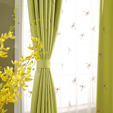 Delightful Senisaihon Europe Green Linen Embroidery Blackout Curtains Green Red  Dragonfly Tulle Curtains Bedroom Curtains For Living Idea