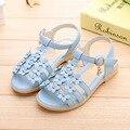 2016 newSummer estilo crianças sandálias Meninas princesa linda flor sapatas dos miúdos tênis maré Sandálias flat Sapatos de bebê por atacado