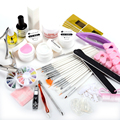 JFYB! DIY Kit de derramar ongle au gel UV topcoat nail art cutícula pedicure
