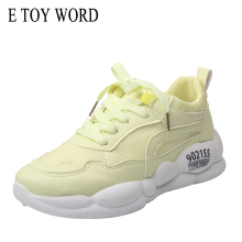 Buy E TOY WORD Flat shoes female 2019 New Autumn zapatillas mujer Casual Sports Shoes Running Breathable Mesh Shoes Woman sneakers directly from merchant!