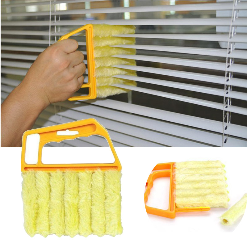 Us 2 44 20 Off Brush Louver Window Cleaner Easy Car Clean Windshield Tool Mini Blind Cleaner Brush Household Gadget Drop Shipping In Cleaning
