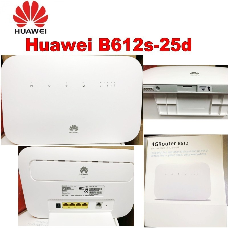 все цены на Unlocked Huawei B612 4G LTE Cat 6 CPE router B612s-25d 4G wifi router 300Mbps