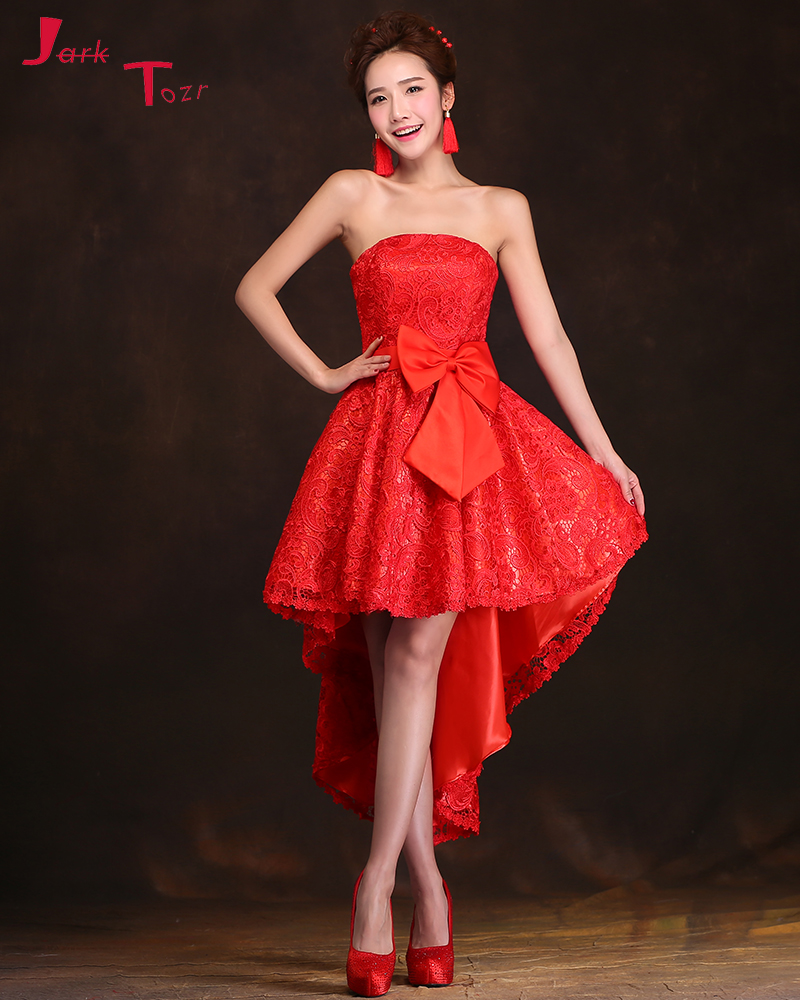 Online get cheap red high low homecoming dresses aliexpress jark tozr custom made vestidos de coctel red lace high low sexy cocktail homecoming dresses 2017 ombrellifo Image collections