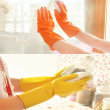 1 Pair Dishwashing rubber gloves Household waterproof laundry housework latex gloves Super Deals
