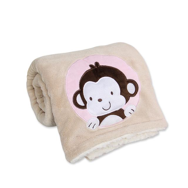 1 Peça Tamanho 76*102 CM Receber Cobertores Cobertores Do Bebê Para O Bebê 0-2 Anos Quente Cobertor de Cashmere macio E Confortável