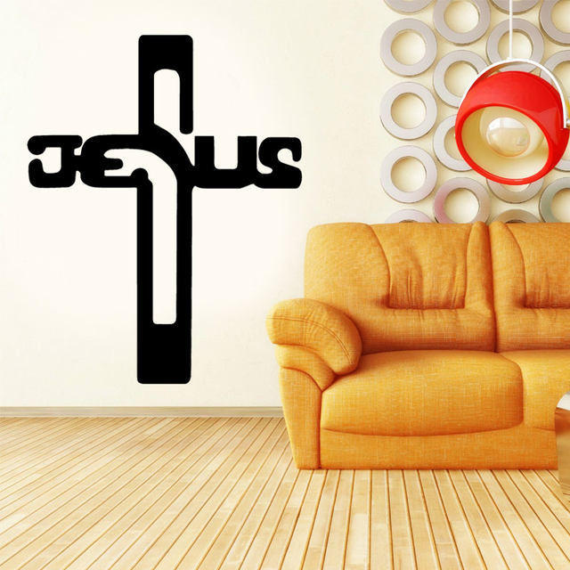 Online Shop Jesus Cross Wall Stickers God Lord Bless Church Home ...
