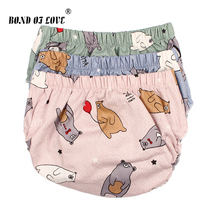 Baby Bloomers Cotton Shorts For Girls Boys PP Children Harem Short 3 Color Cartoon Bear Print Newborn Clothes