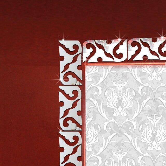 3D Acryl Taille Linie Wandaufkleber Sockel Decke TV Hintergrund