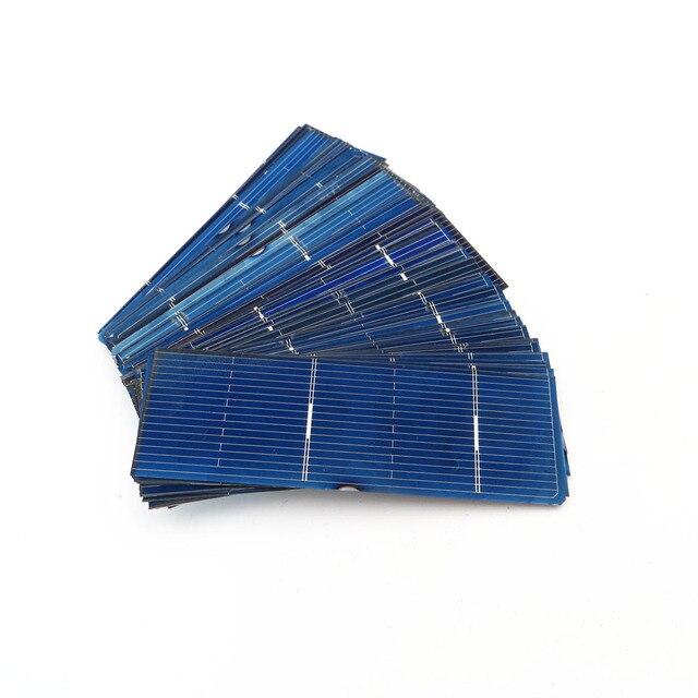 50 unids/lote 125 156 Panel de células solares DIY cargador de batería policristalina carga 5V 6V 12V silicio Sunpower 5/6 pulgadas Mono Poly