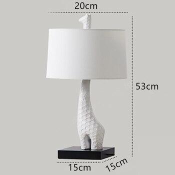 Ō�欧キリン LED Ã�ーブルランプ創造的人格家の装飾照明子供研究の寝室のデスクランプ Led Ã�ッドライト
