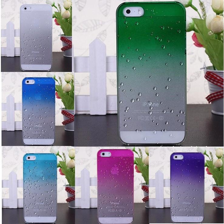 Ультра тонкий 3D водослива Рейндроп Твердый переплет кожа для Apple iPhone4 Сумки и чехлы для телефонов Интимные аксессуары