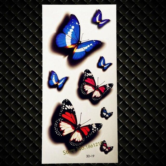 Neue 3d Schmetterling Tattoo Arm Bein Schulter Temporare Tattoo